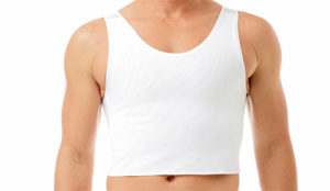 White Binder Chest Compression
